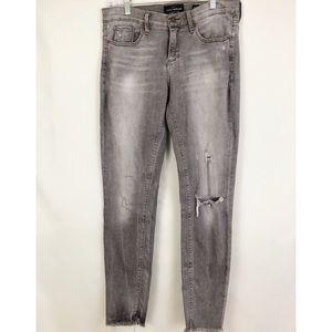 Lucky Brand Gray Charlie Skinny Jeans Sz 8